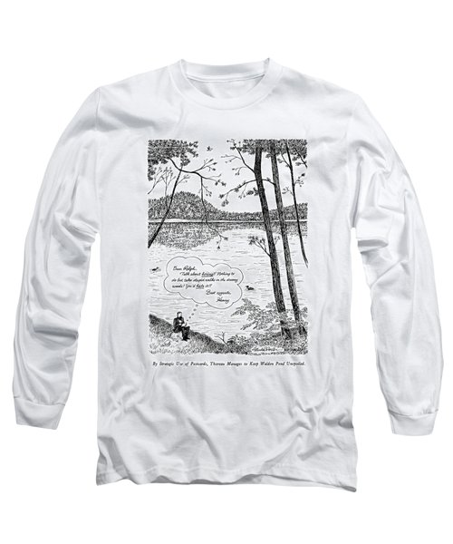 By Strategic Use Of Postcards Long Sleeve T-Shirt