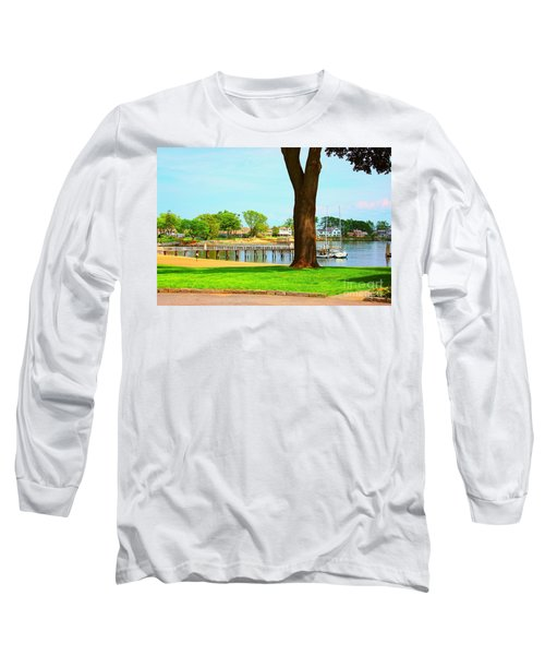 Long Sleeve T-Shirt featuring the photograph By The Sea by Judy Palkimas