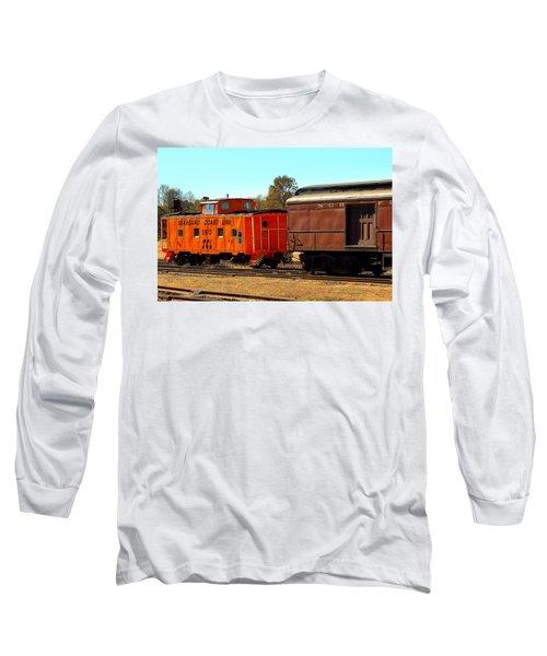 Caboose And Car Long Sleeve T-Shirt