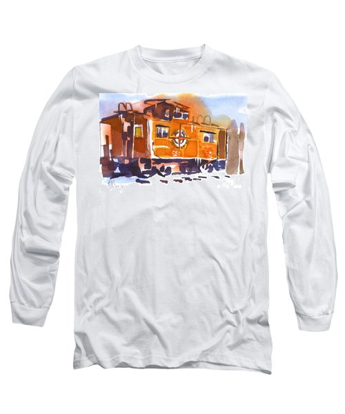 Caboose In Snow And Ice Long Sleeve T-Shirt