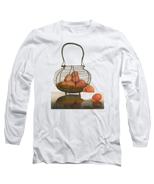 Long Sleeve T-Shirt featuring the painting Cackleberries by Ferrel Cordle