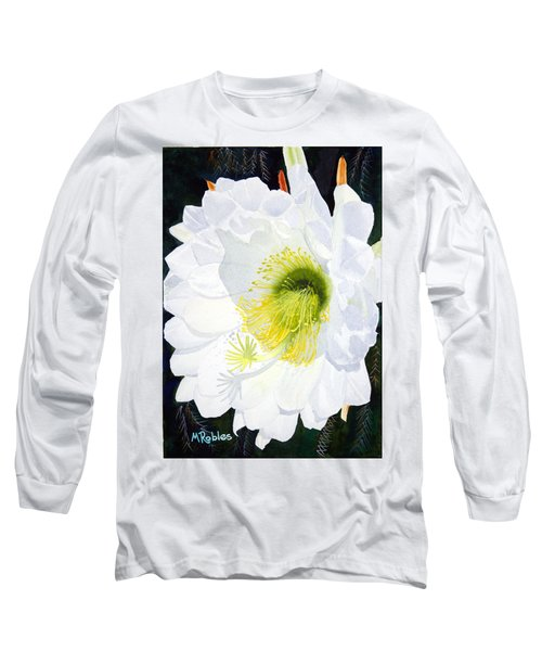 Cactus Flower II Long Sleeve T-Shirt by Mike Robles