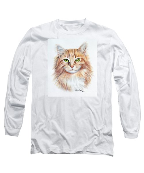 Calico Cat Long Sleeve T-Shirt by Lena Auxier