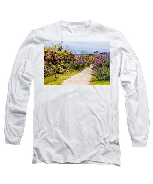 California Coastline Path Long Sleeve T-Shirt by Melinda Ledsome