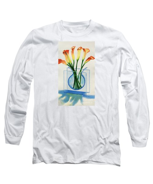 Long Sleeve T-Shirt featuring the painting Calla Lilies by Kathy Braud