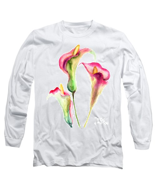 Calla Lily Flowers Long Sleeve T-Shirt