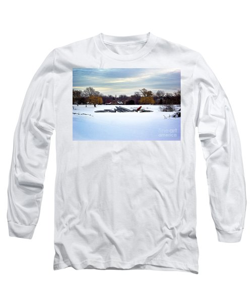 Canoes In The Snow Long Sleeve T-Shirt