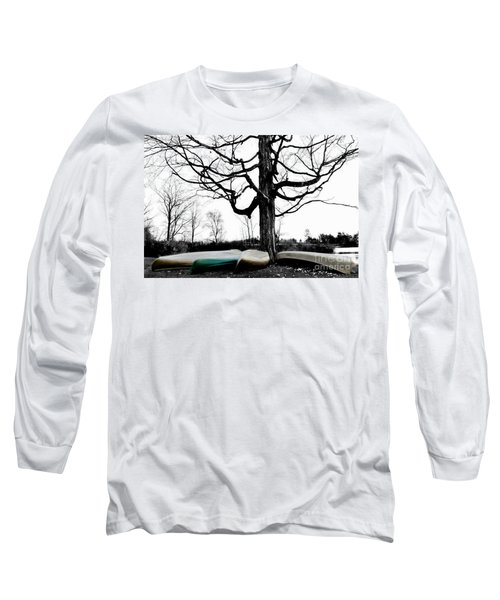Canoes In Winter Long Sleeve T-Shirt