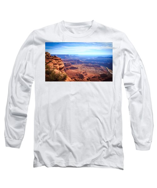 Long Sleeve T-Shirt featuring the photograph Canyonlands - A Landscape To Get Lost In by Peta Thames
