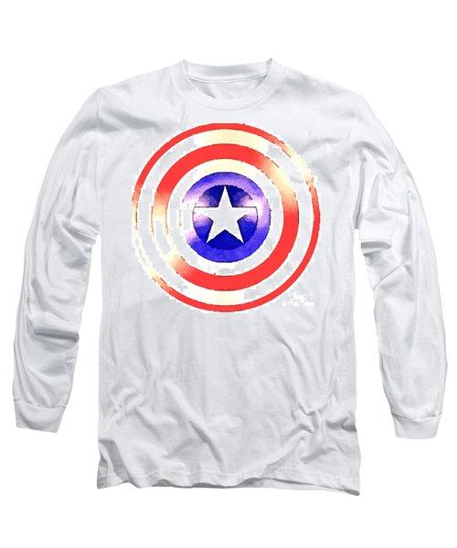 Cap Am Shield Long Sleeve T-Shirt