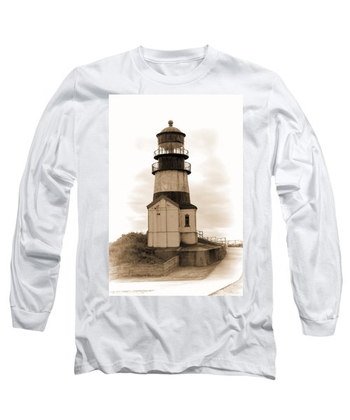 Cape Disappointment Lighthouse Long Sleeve T-Shirt by Cathy Anderson