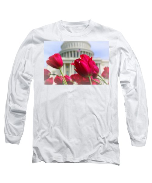 Long Sleeve T-Shirt featuring the photograph Capital Flowers  by John S