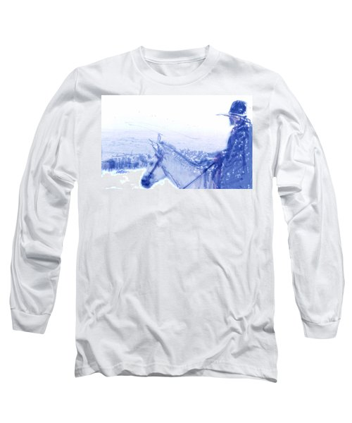 Capt. Call In A Snow Storm Long Sleeve T-Shirt