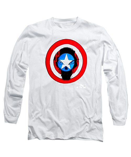 Captain America And Red Skull Long Sleeve T-Shirt by Justin Moore
