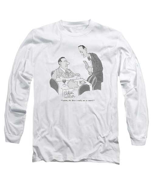 Captain, This Brie Is Totally Out Of Control! Long Sleeve T-Shirt