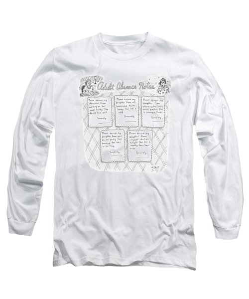 Captionless: Adult Absence Notes Long Sleeve T-Shirt
