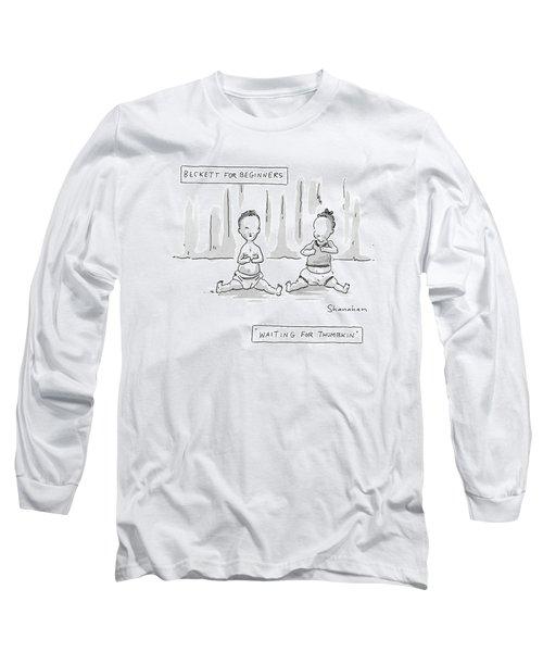Captionless: Beckett For Beginners: Waiting Long Sleeve T-Shirt
