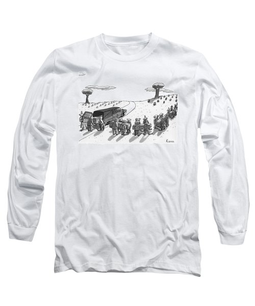 Captionless. In A Cemetery Long Sleeve T-Shirt
