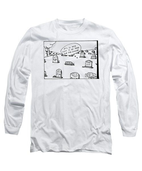 Captionless. In The Middle Of A Cemetery Long Sleeve T-Shirt