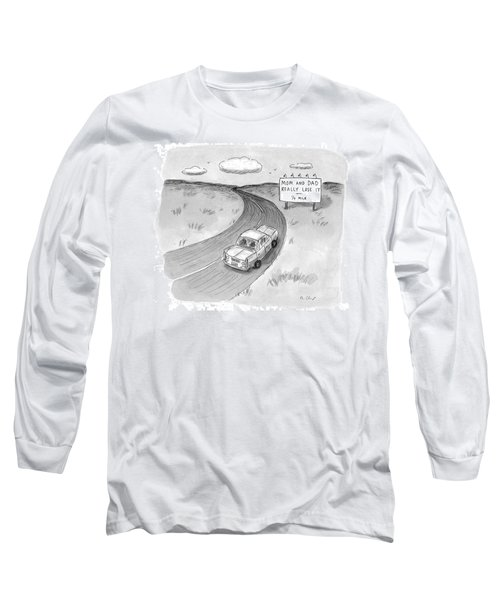 Captionless 'mom And Dad Really Lose It  -  1/4 Long Sleeve T-Shirt