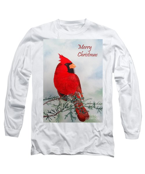 Cardinal Merry Christmas Long Sleeve T-Shirt