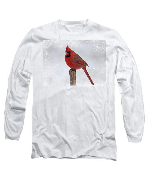 Cardinal Perching Long Sleeve T-Shirt