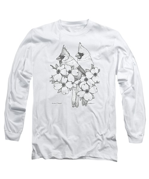 Cardinals And Dogwoods Long Sleeve T-Shirt