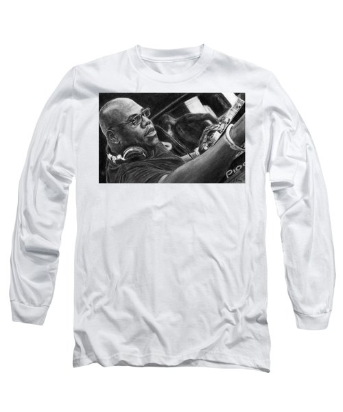 Carl Cox Pencil Drawing Long Sleeve T-Shirt