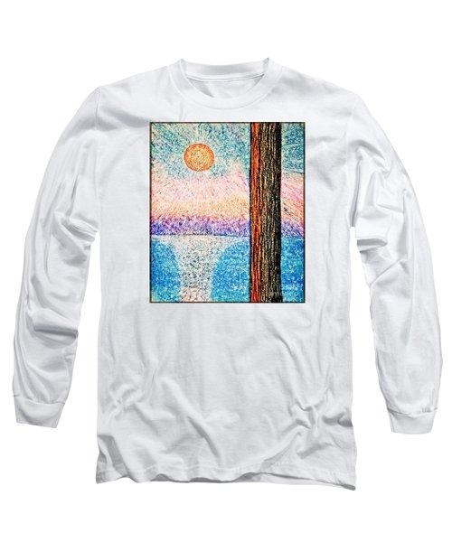 Carmel Highlands Sunset Long Sleeve T-Shirt by Joseph J Stevens