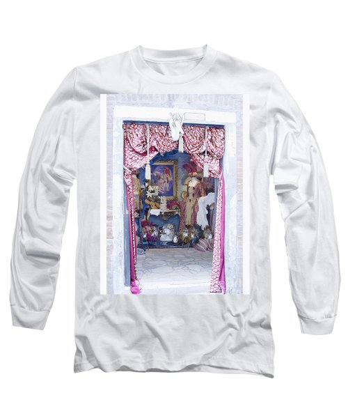 Long Sleeve T-Shirt featuring the digital art Carnevale Shop In Venice Italy by Victoria Harrington