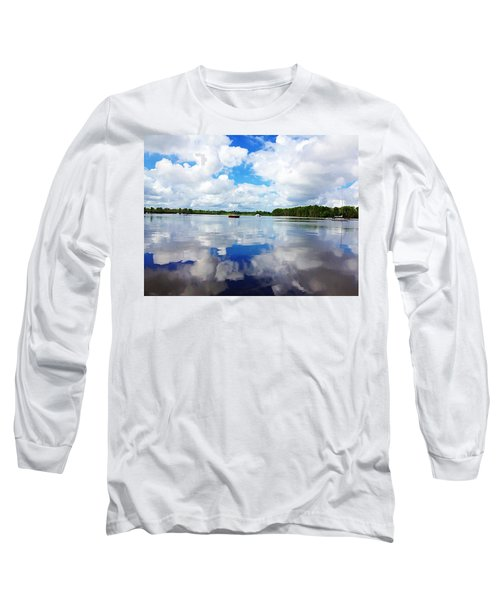 Carolina Blue- Washington Nc Long Sleeve T-Shirt