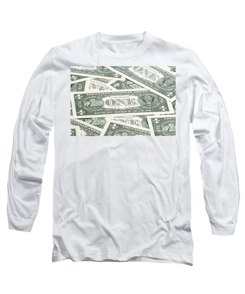 Long Sleeve T-Shirt featuring the photograph Carpet Of One Dollar Bills by Lee Avison