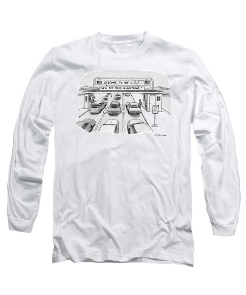 Welcome To The Usa Long Sleeve T-Shirt