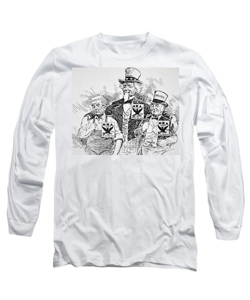 Cartoon Depicting The Impact Of Franklin D Roosevelt  Long Sleeve T-Shirt