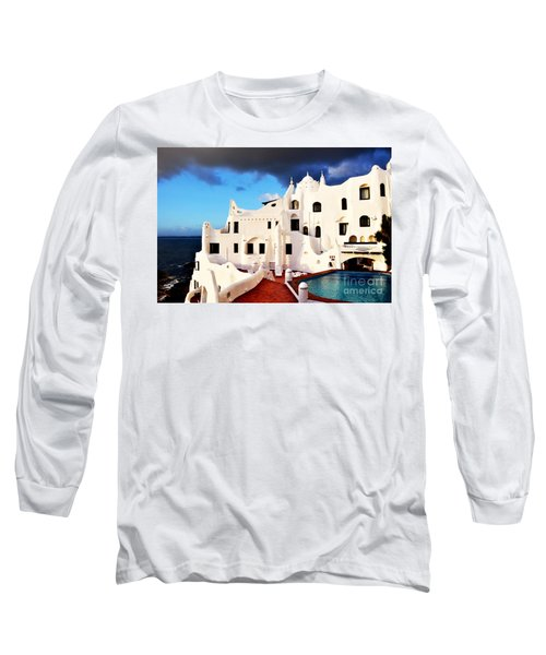 Casa Pueblo Al Mar Long Sleeve T-Shirt by Valerie Rosen