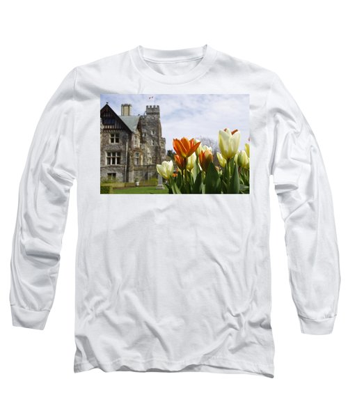 Long Sleeve T-Shirt featuring the photograph Castle Tulips by Marilyn Wilson