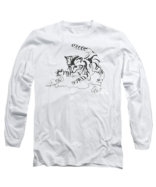 Cat- Cute Kitty  Long Sleeve T-Shirt by Go Van Kampen