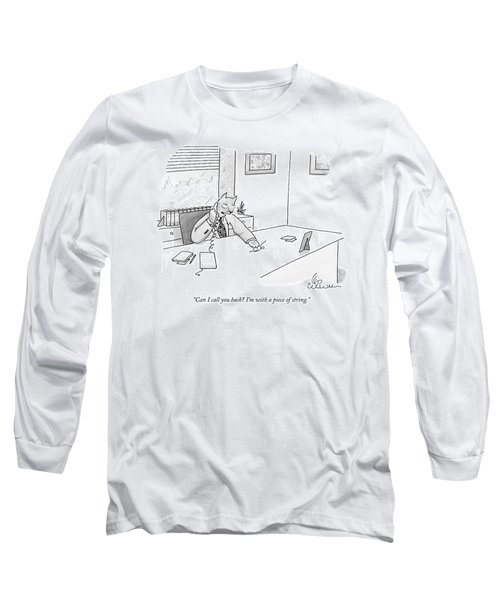 Cat Executive On Phone Long Sleeve T-Shirt
