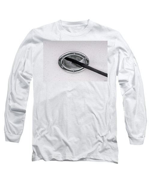 Long Sleeve T-Shirt featuring the photograph Cat Hole And Hawser No2 by Marty Saccone