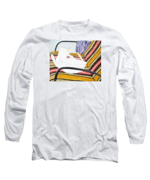 Cat Painting Long Sleeve T-Shirt