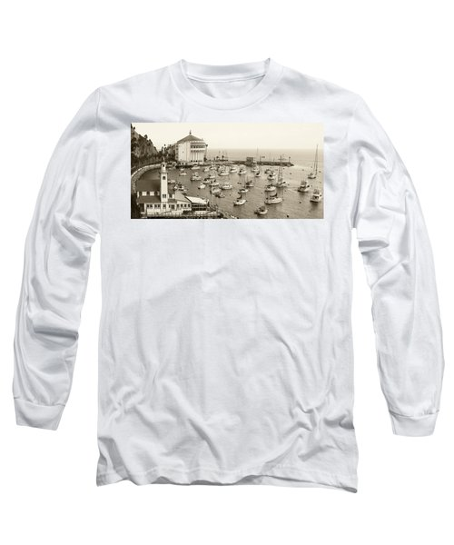 Catalina Island. Avalon Long Sleeve T-Shirt by Ben and Raisa Gertsberg