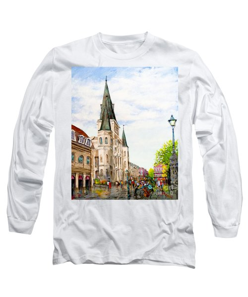 Cathedral Plaza - Jackson Square, French Quarter Long Sleeve T-Shirt