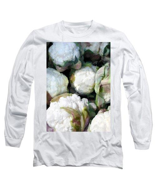 Cauliflower Bouquet Long Sleeve T-Shirt by Elaine Plesser