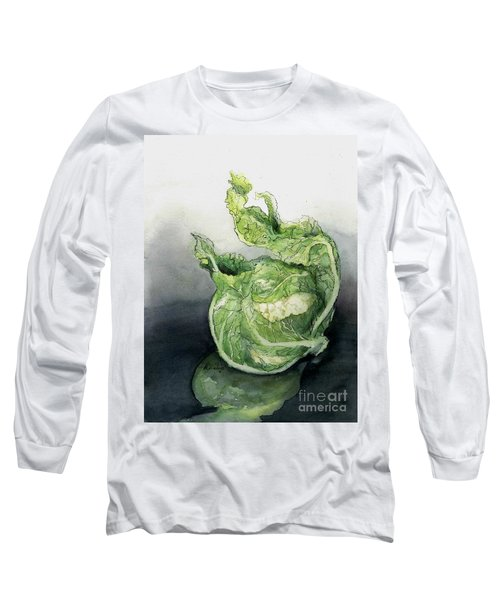 Cauliflower In Reflection Long Sleeve T-Shirt by Maria Hunt