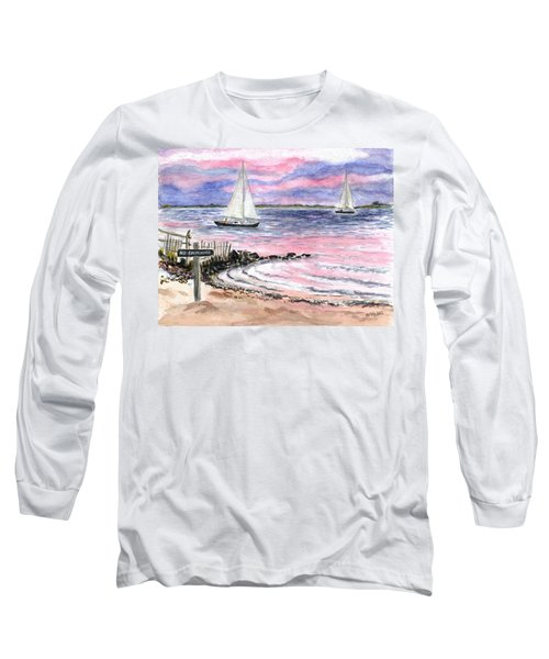Cedar Beach Pinks Long Sleeve T-Shirt
