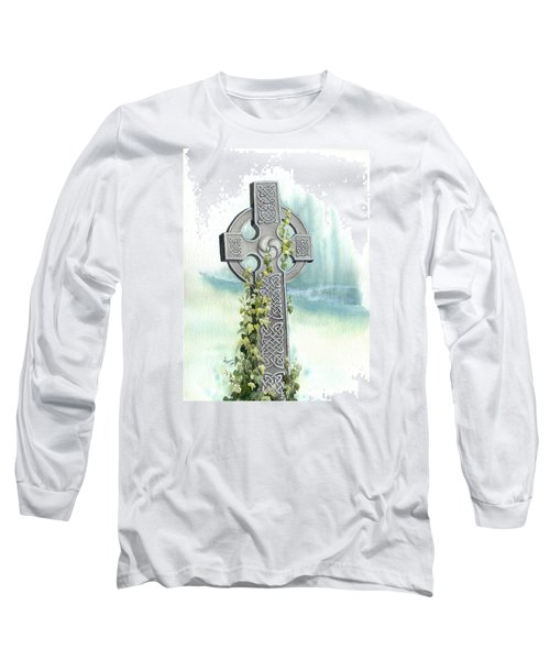 Celtic Cross With Ivy II Long Sleeve T-Shirt