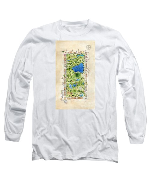 Central Park And All That Surrounds It Long Sleeve T-Shirt by AFineLyne