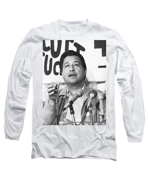 Cesar Chavez Announces Boycott Long Sleeve T-Shirt