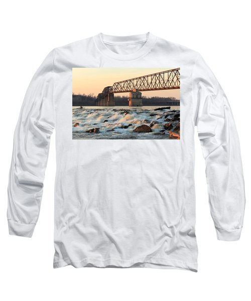 Chain Of Rocks Winter Sunset Long Sleeve T-Shirt