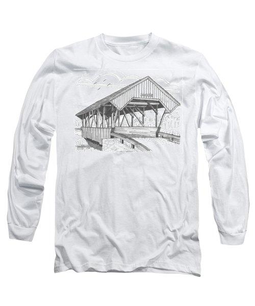Chamberin Mill Covered Bridge Long Sleeve T-Shirt